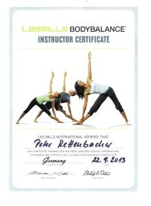 Body Balance Certificat